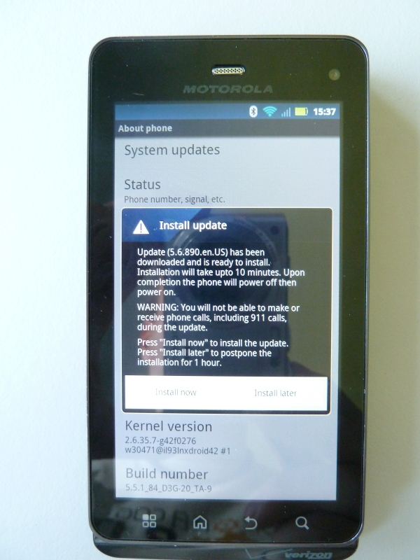 droid 3 software update