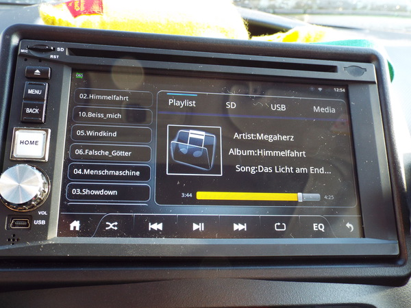 Double DIN Android headunit